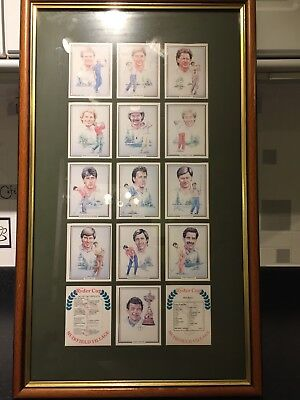 The Ryder Cup 1987 Golf Winners sport cards full series framed rear collectable