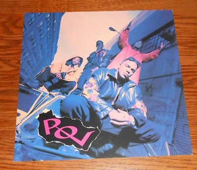 P.O.V. Handin' Out Beat Downs Poster 2-Sided Flat Square 1993 Promo 12x12 R&B