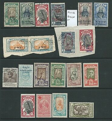 Ethiopia Good Lot Early Used Some On Piece Mh Interesting!