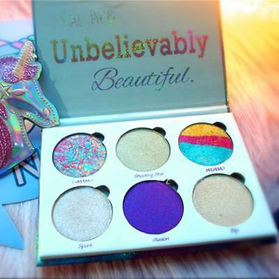 Unicorn Mermaid 6 Colour Farben Eyeshadow Lidschatten Palette Glitter
