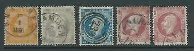 Norway 1856-60 Oscar 1 Used Lot See Both Scans For Condition