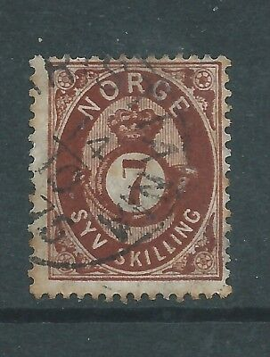 NORWAY 1871 7sk USED  SEE BOTH SCANS FOR CONDITION