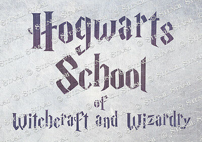 Hogwarts School A5 STENCIL HS Spells Children Furniture Crate SUPERIOR 250 MYLAR