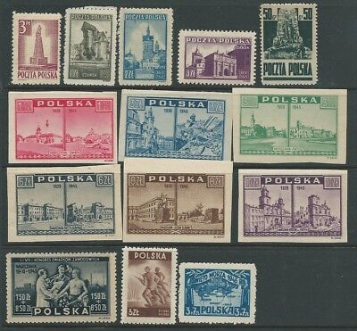 Poland Good Lot Mid Period Mnh Fresh Looking!