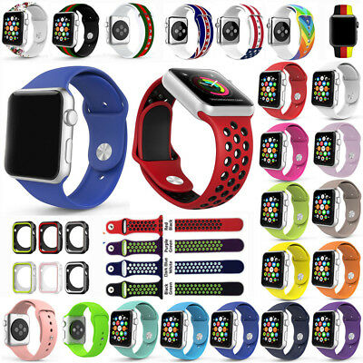 80 Strap Bracelet Band Sports Silicone Replace For Apple Watch 38 42 40 44mm Lot