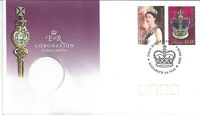 2003 QEII Coronation Golden Jubilee FDC/PNC Sorry No Coin