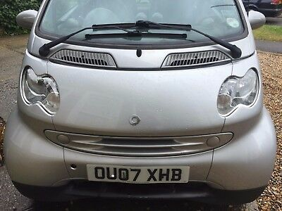 Smart Car ForTwo, Silver, Glass Roof,Heated Leather Seats, Under 60K, A/C, 0.7L