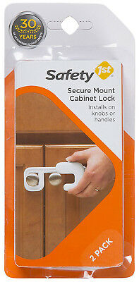 2 Pack Safety 1st Secure Mount Cabinet Lock Installs on Knobs or Handles - 72347