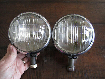 1934 1935 36 Pierce Arrow Running Driving Cowl Light Lamp Lite Pair 34 35 Lights