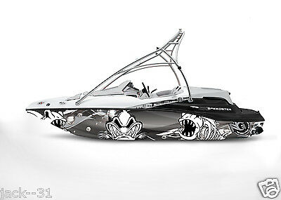 Ng Graphic Kit Decal Boat Sportster Sea Doo Speedster Sport Wrap Scary Fish
