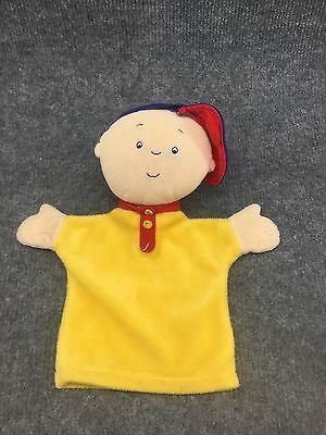 "Caillou Stuffed Plush 10"" Hand Puppet Toy  2001 Cinar Corporation."