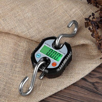 150kg Portable Mini Digital Hanging Scale LCD Hook Electronic Weight FreeShip EA