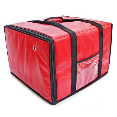 Foodservice Essentials IPDB-618R Insulated Pizza/Food Delivery Bag Red