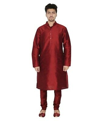 Bollywood Indian New Men's Kurta Pajama Traditional Wear Casual Ethnic Dress
