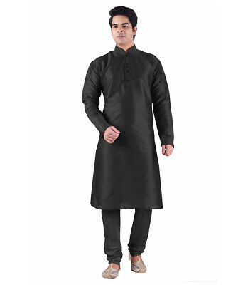 Traditional Black Indian Designer Ethnic Kurta Pajama Wedding Wear Indo Western