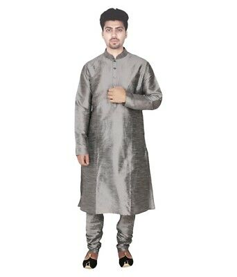 Ethnic Bollywood Indian New Men's Kurta Pajama Casual Wear Traditional Dress