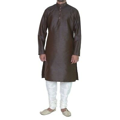Indian New Men's Kurta Pajama Traditional Wear Bollywood Designer Ethnic Dress