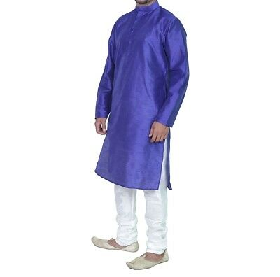 Indian New Men's Kurta Pajama Traditional Wear Bollywood Casual Ethnic Dress
