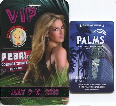 "Las Vegas Palms Jimmy's Naughty Naughty Nite 9 ""at the Pearl"" VIP Pass 3 1/4""x5"""