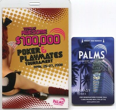 "Las Vegas Palms $100,000 Poker & Playmates Tournament 31/2"" x 51/2"" VIP Pass"