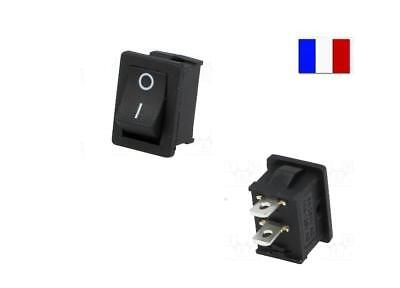 Interrupteur à bascule 250V 6A, ON OFF, Noir, 2 Positions, 2 Broches. Arduino