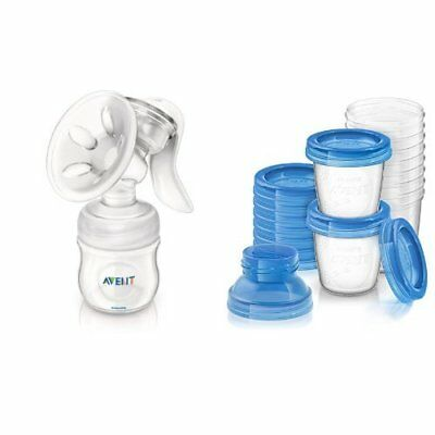 Philips Avent Manual Comfort Breast Pump and Breast Milk Storage Cups 6 Ounce...