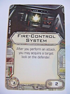 Fire Control System, X-Wing Miniatures, System Upgrade Card, Ffg