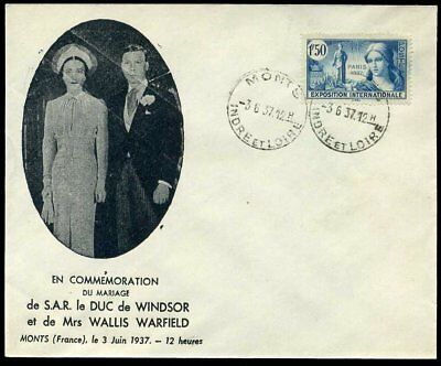 1937 3rd June Windsor Wedding MONTS France - Edward VIII