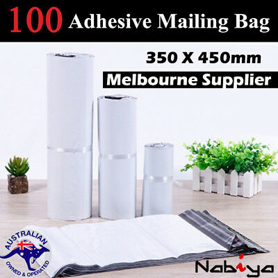 100x Large Mailing Postage Courier Satchel Packaging Bags Poly Plastic 35x48cm