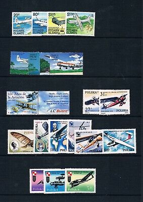 1965-2003, Aircraft of the World collection of 190 UM sets/MS, See below.