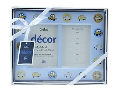 Cudlie Decor Baby Boy's First Photo Handprint Footprint Frame