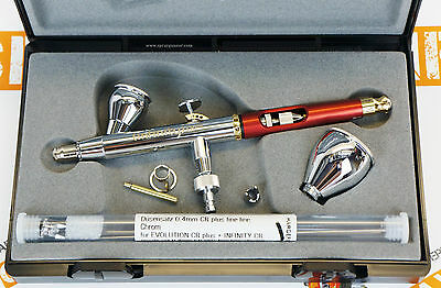 Harder and Steenbeck Infinity CR Plus 2in1 two in one airbrush damaged case