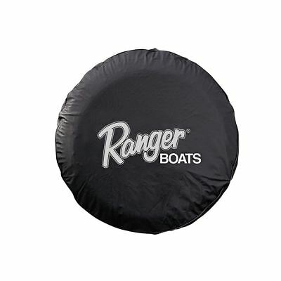 "Ranger Bass Boats Spare Tire Cover 15"" Black Ranger Logo Fishing Trailer Parts"