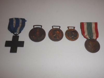 Authentic Collection of World War I Italian Medals - FREE SHIPPING