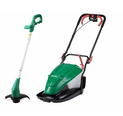 Qualcast Electric Hover 1600W Mower and 350W Grass Trimmer B3 RRP 99.99