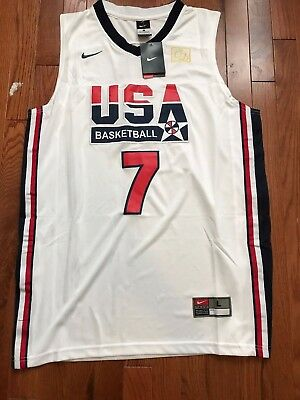 huge selection of e13f0 0c8e3 NWT TEAM USA Dream Team Larry Bird #7 White Swingman Men's Jersey