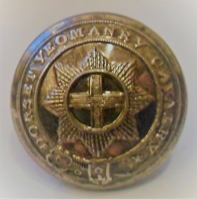 Victorian Dorset Yeomanry Cavalry Silver Plated Button C1837