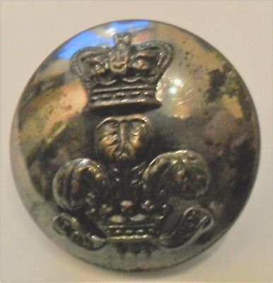 Victorian Royal Wiltshire Yeomanry Silver Plated Button, 1860-1901