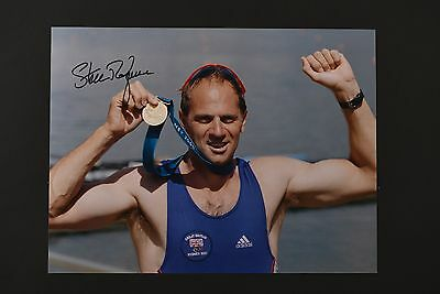 STEVE REDGRAVE OLYMPICS ROWING HAND SIGNED PHOTO AUTHENTIC GENUINE + COA - 16x12