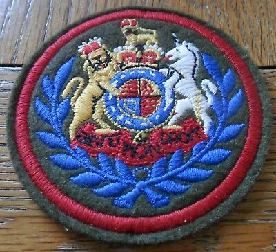 WO1 (Conductor) Embroidered on Felt Rank Badge, QC
