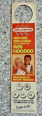 Vintage Coca Cola Saver Sheet, Peel A Fortune, Joe Namath, Sally Struthers