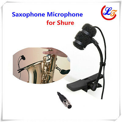 Instrument Saxophone Microphone Condenser Mic for Shure Wireless XLR mini 4pin