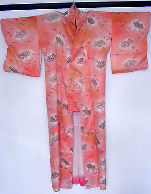 Beautiful Vintage Japanese Silk Kimono from the 1960s