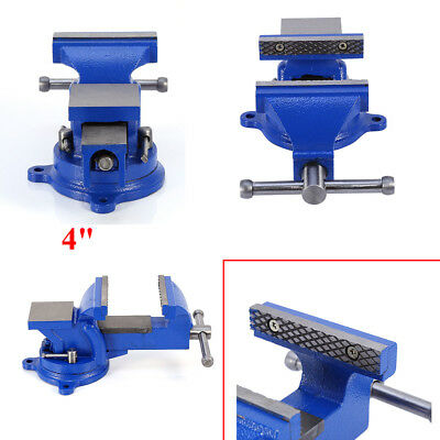 """High Quality 4"""" Heavy Duty Engineers Vice Swivel Base Clamp Jaw Work Bench Hot"""