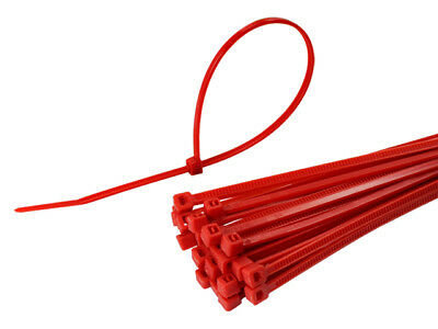 Nylon Plastic Cable Ties Various Colours Various Sizes and Pack of 100 ZipTies