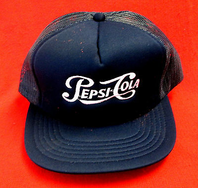 Lot of 2 Pepsi Cola Caps Pepsi Cola & Pepsi Patch Snap Back New Old Stock wboc