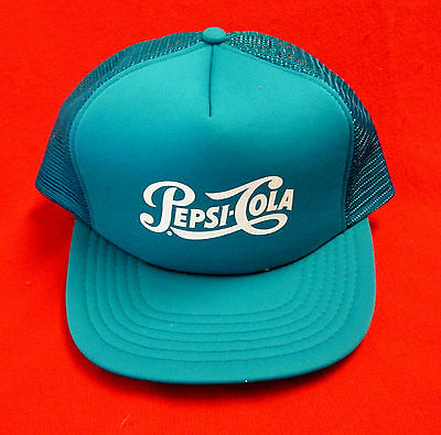 Pepsi Cola Cap Hat Teal 100% Polyester Snap Back New Old Stock wboc