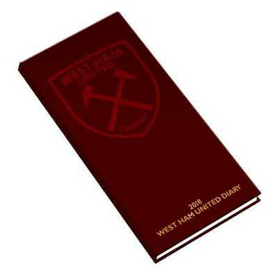 West Ham United Football Club Official 2018 Diary Week to View Slim Pocket WHUFC
