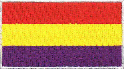 PARCHE bordado en tela BANDERA DE ESPAÑA REPUBLICANA, EMBROIDERED PATCH