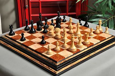 """The Avant Garde Series Luxury Chess Set - Pieces Only - 4.4"""" King - Natural Boxw"""